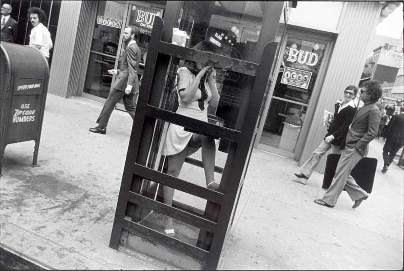Garry Winogrand (American, 1928-1984) Untitled (Woman in a Telephone Booth, New York) about 1972 Gelatin silver print Gift of the Schorr Family collection, 1991.280 © The Estate of Garry Winogrand, courtesy Fraenkel Gallery, San Francisco
