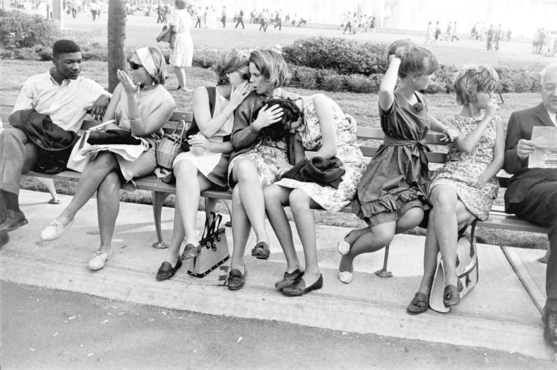 Garry Winogrand, New York World's Fair, 1964; gelatin silver print, Collection SFMOMA, gift of Dr. L.F. Peede, Jr. All images copyright The Estate of Garry Winogrand, courtesy Fraenkel Gallery, San Francisco.